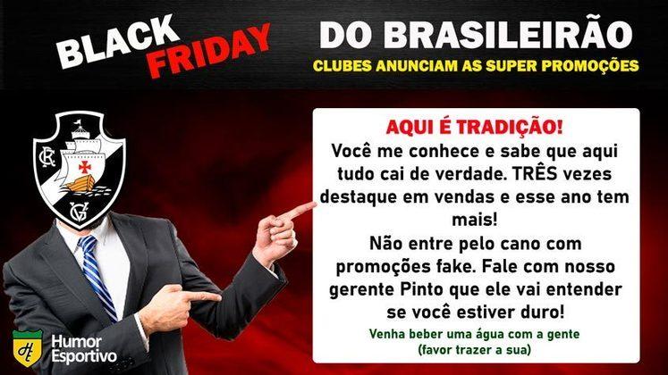 Black Friday: a promoção do Vasco