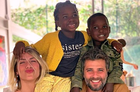Ewbank e Gagliasso são pais de Titi e Bless