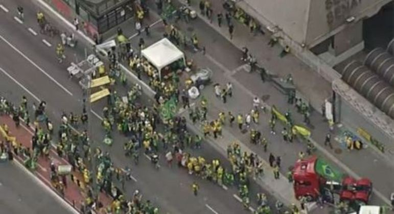 A pedido da PM, avenida Paulista é bloqueada por causa das manifestações do 7 de setembro