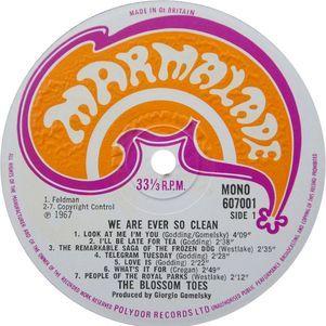 "Selo Marmalade de ""We Are Ever So Clean"""