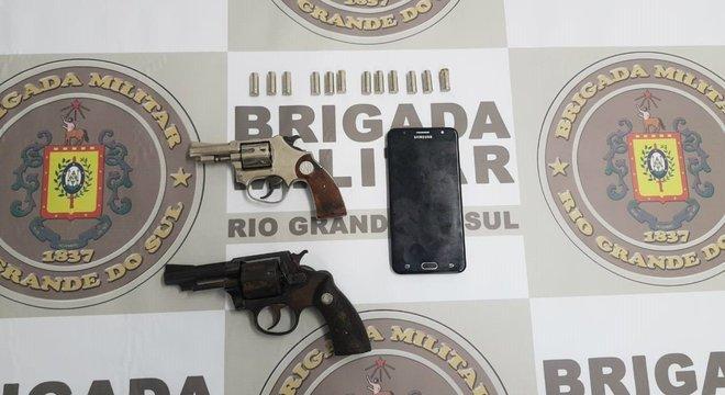 BM deteve os criminosos Crédito: Brigada Militar / Divulgação / CP