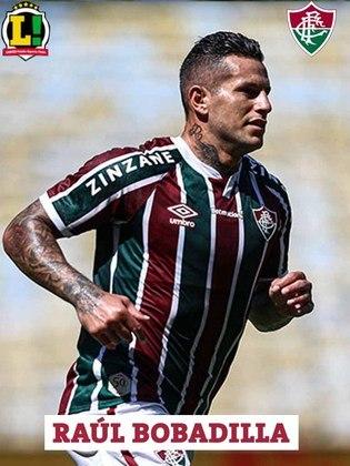 Bobadilla - 6,0 - Deu a presença de área que o Fluminense precisava depois da expulsão de Abel e foi muito bem. Chegou, inclusive, a ter um gol corretamente anulado.