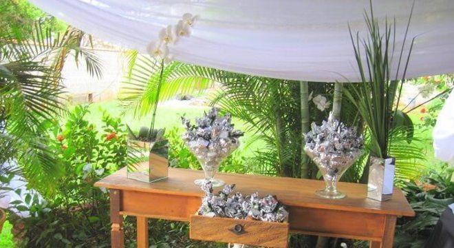 Bodas de prata mesa de doces