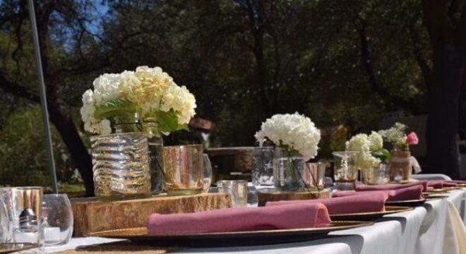 Bodas de prata mesa decorada