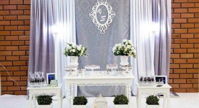 Bodas de prata mesa decorada com estilo