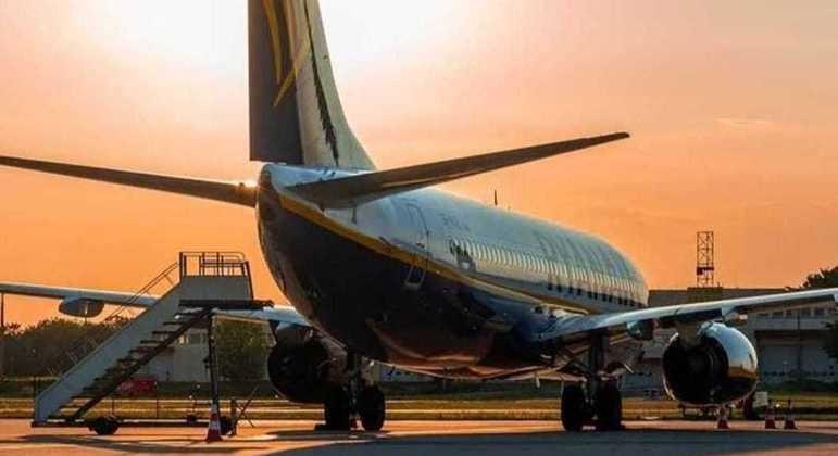 Boeing da Ryanair semelhante ao do incidente