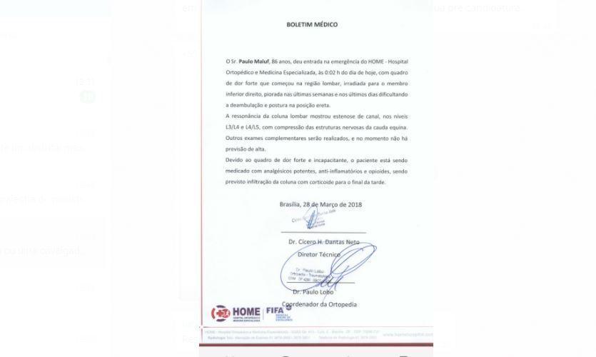 Por problemas de saúde, Toffoli concede prisão domiciliar a Paulo Maluf