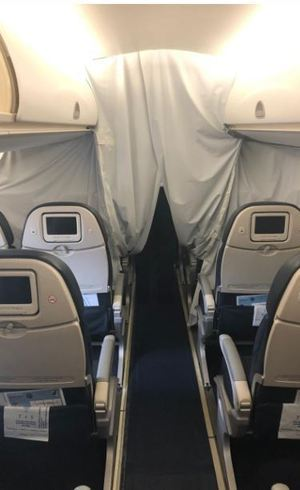 Aviões brasileiros têm bolha de isolamento em caso de sintomas