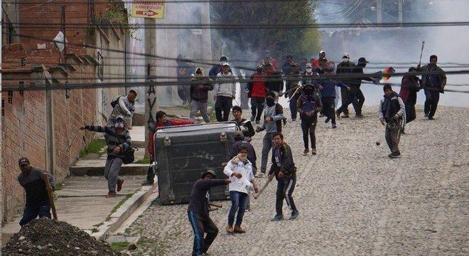 A Bolívia tem tido protestos de apoiadores de Evo desde sua saída do poder