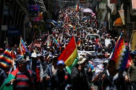 Protestos se intensificaram nas ruas da Bolívia