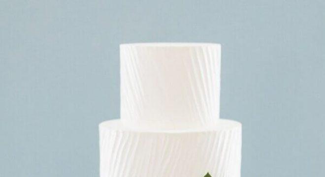 bolo de casamento branco 3 andares