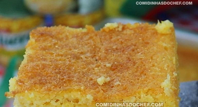 Bolo de Milho Cremoso com Farinha de Trigo
