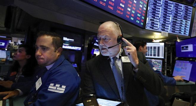 Movimento da Bolsa de Valores de Nova Iorque na abertura desta quinta-feira