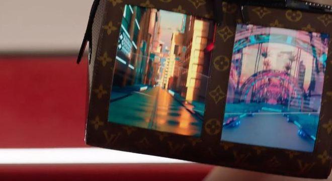 Bolsas de grife de luxo têm display flexível na parte externa