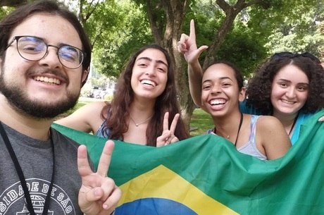 Bolsistas brasileiros no Weizmann Instituto, em Israel