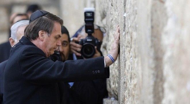 Presidente brasileiro estava acompanhado do primeiro-ministro de Israel