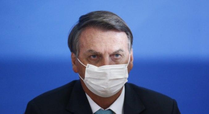 O presidente da República, Jair Bolsonaro, durante evento no Ministério da Saúde