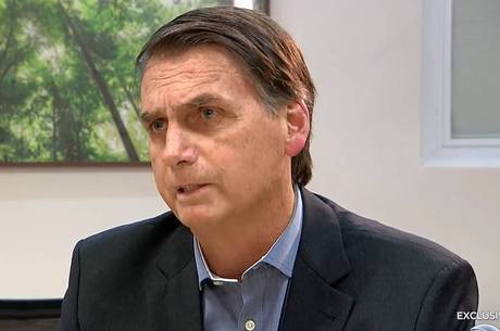Jair Bolsonaro, durante entrevista à TV Record