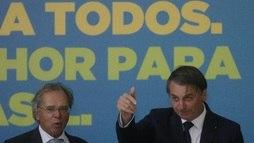 Bolsonaro diz que 'casamento' com Guedes 'mais forte do que nunca' (Dida Sampaio/Estadão Conteúdo)