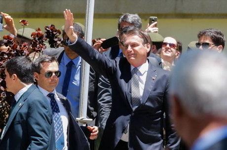 Bolsonaro em evento na Vila Militar, no Rio