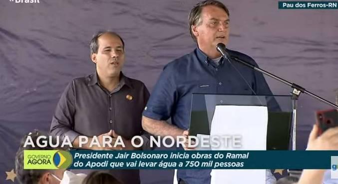 O presidente Jair Bolsonaro durante evento no Rio Grande do Norte