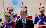 O presidente Jair Bolsonaro participa do desfile de 7 de setembro em Brasília