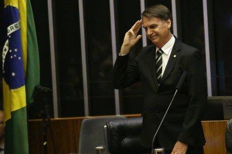 Bolsonaro durante evento no Congresso Nacional
