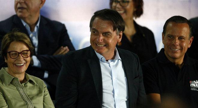 Bolsonaro participou de evento nesta segunda-feira, em Ribeirão Preto (SP)