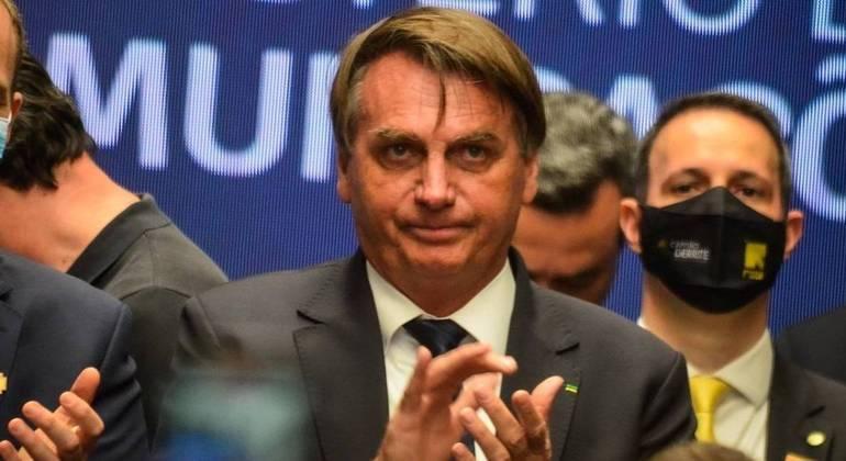 Bolsonaro em evento em Sorocaba, quando o governo de SP o autuou pela 2ª vez