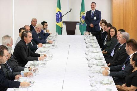 Presidente recebeu jornalistas nesta quinta-feira