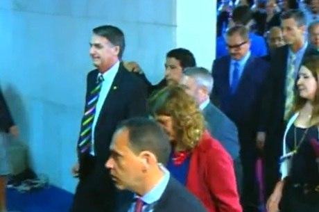 Bolsonaro chega à Câmara dos Deputados