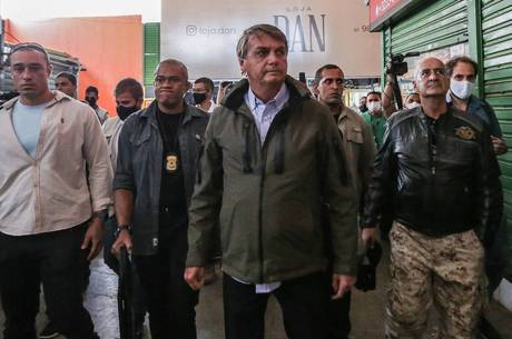Bolsonaro após passeio de moto com Ramos