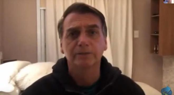 Bolsonaro falou com participantes do evento por vídeo chamada