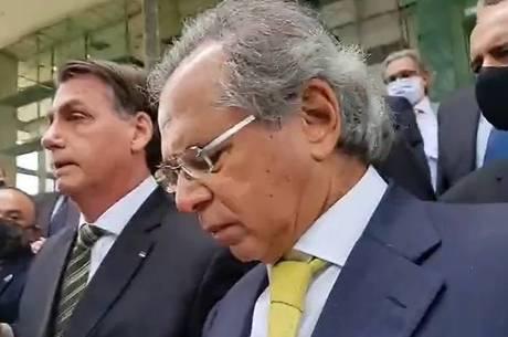 Após reunião no STF, Bolsonaro e Guedes falam à imprensa