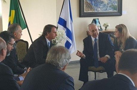 Netanyahu esteve na posse de Bolsonaro