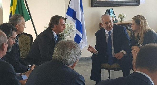 Presidente eleito e o primeiro-ministro Benjamin Netanyahu em reunião no Rio