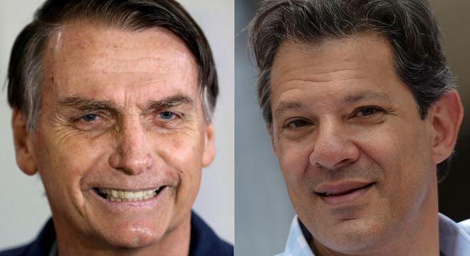 Jair Bolsonaro (PSL) e Fernando Haddad (PT) disputam o segundo turno