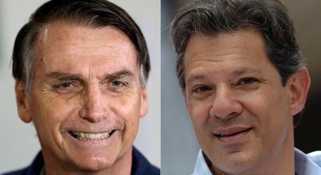 Tanto Bolsonaro quanto Haddad são alvos de notícias falsas em aplicativos