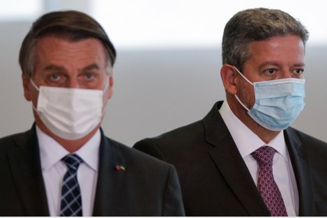 Presidente da Câmara, Arthur Lira, e presidente Jair Bolsonaro