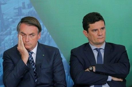 Bolsonaro e Sergio Moro divergem sobre anticrime