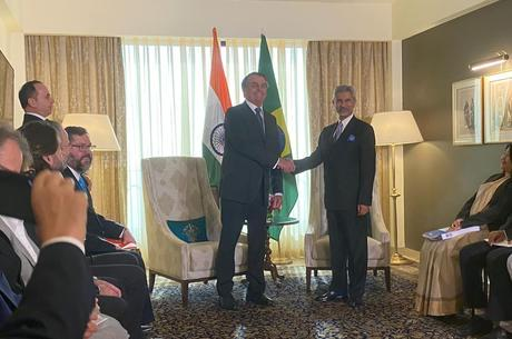 Bolsonaro se encontrou com o chanceler Subrahmanyam Jaishankar