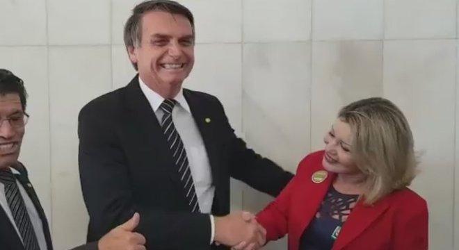 Bolsonaro e Selma se encontram em Brasília em julho de 2018