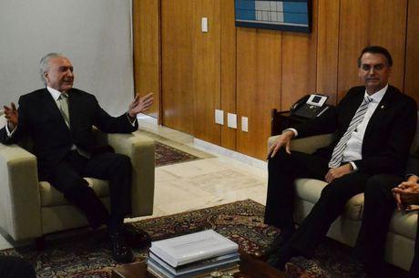 Temer e Bolsonaro se reuniram nesta quarta-feira