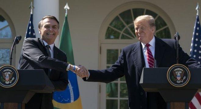 Bolsonaro e Trump em encontro no início do ano; nova agenda conjunta entre ambos ainda é incerta