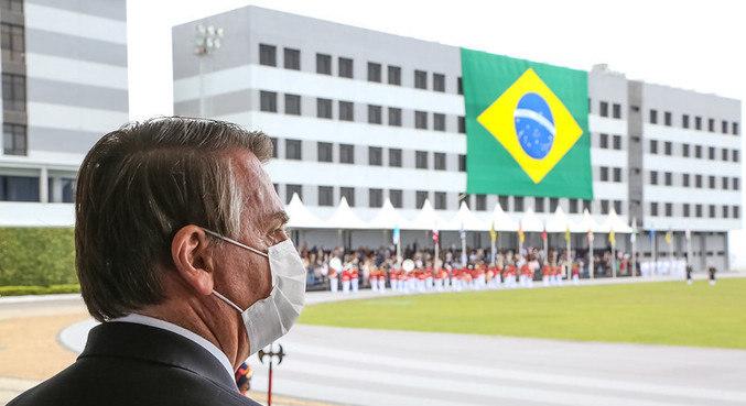 O presidente Jair Bolsonaro, durante um evento