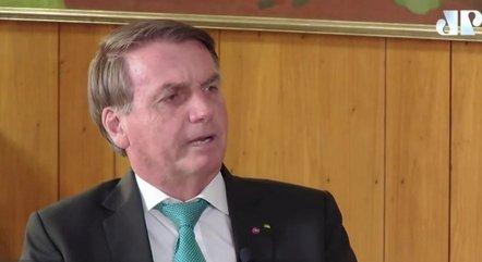 Bolsonaro durante entrevista à Jovem Pan