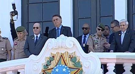 O presidente Jair Bolsonaro em evento em Campinas (SP)