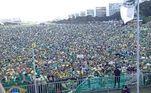 Evento foi organizado por produtores rurais de diversos estados. Eles promoveram uma marcha a favor de Bolsonaro e contra medidas de isolamento social