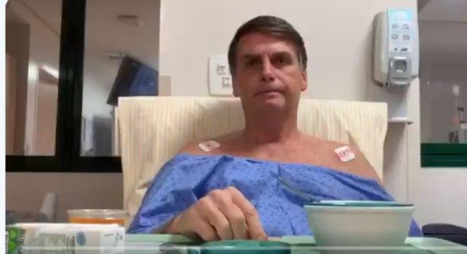 Bolsonaro foi operado em janeiro para retirar uma bolsa de colostomia