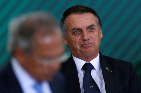 Bolsonaro e Paulo Guedes participaram da cerimônia
